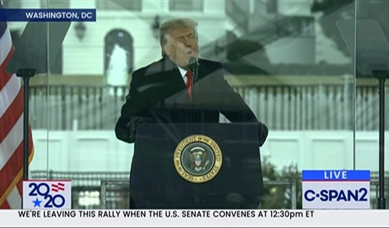 C-SPAN Cuts Away From Trump Speech In Real Time After He Goes On Unhinged Rant About Brian Kemp's Weight And Oprah