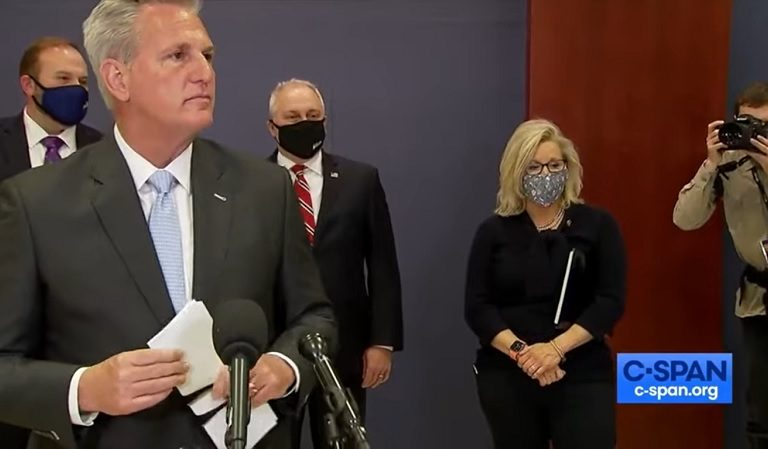 Things Appear To Get Awkward Between Liz Cheney And Kevin McCarthy After Reporter Ask Them Question About Trump's Future