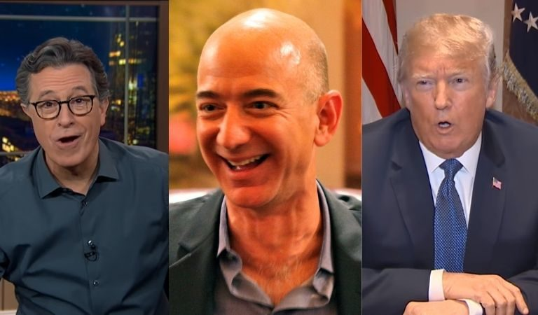Stephen Colbert Thinks That Jeff Bezos Paid Nearly Double For MGM So He Can Release Apprentice Tapes To Shame Donald Trump