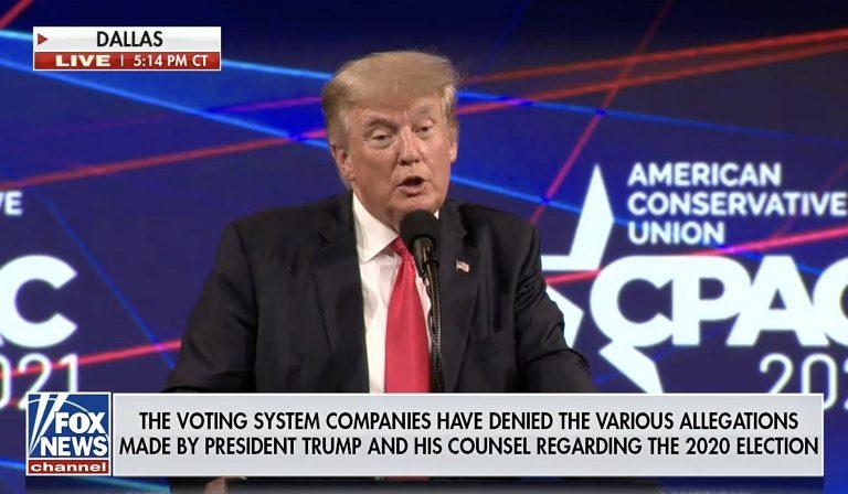 Fox News Literally Had To Run A Disclaimer During Trump's CPAC Dallas Speech