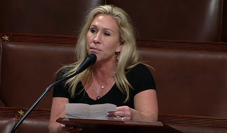 Marjorie Taylor Greene Suddenly Doesn't Seem So Fond Of Prayer And The Pledge Of Allegiance As She Whines About Not Being About To Adjourn Congress On House Floor