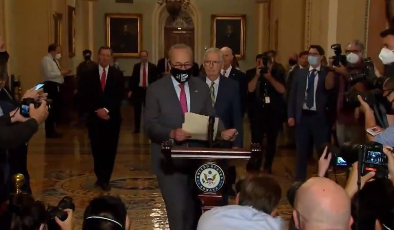 People Burst Into Laughter After Mitch McConnell Seemingly Forgets He's Not The Majority Leader Anymore, Gets Cut Off To The Podium By His Democratic Replacement