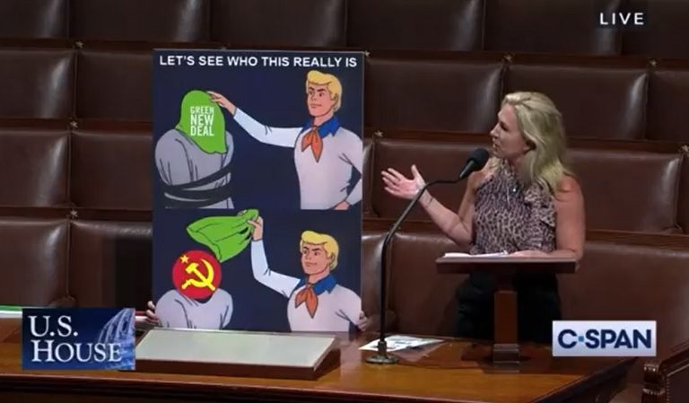 Marjorie Taylor Greene Presented A Printed Scooby-Doo Meme On The House Floor And We Couldn't Make This Up If We Tried