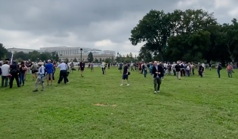 """Reporter Takes To Twitter, Claims Right-Wing DC Rally Has Low Turnout: """"The Crowd Is Press"""""""